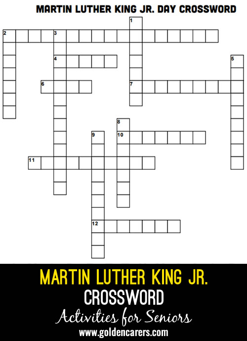 Martin Luther King Day Crossword