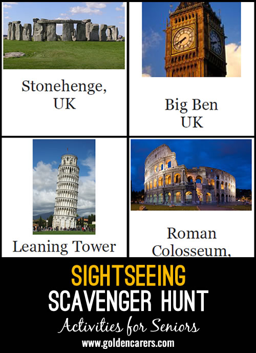 Sightseeing Scavenger Hunt