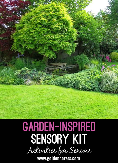 Springtime is the ideal time to add a garden-inspired sensory experience to your 1:1 visits or to your small sensory groups.