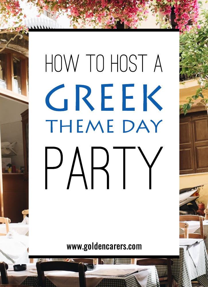 Throw a Greek themed party to celebrate the National Day of Greece!