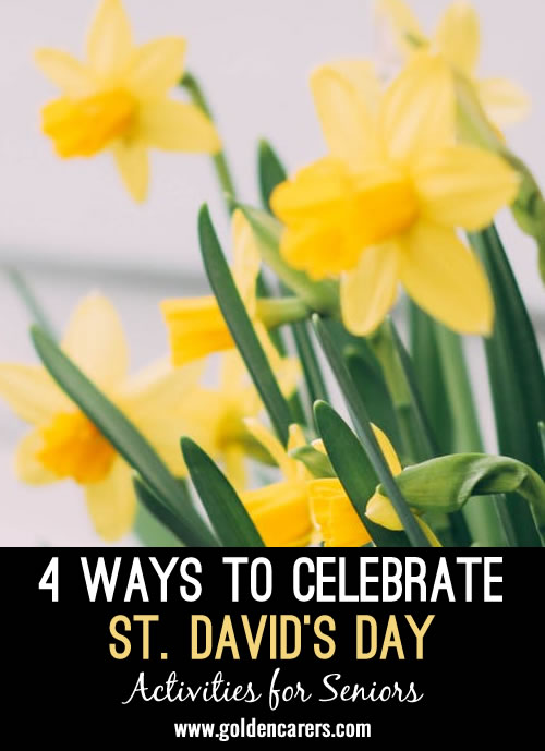 St David's is celebrated in many countries around the world where the Welsh have immigrated.  Despite St. David being a Christian, this celebration involves the culture and tradition of Wales. Clients from any religious denomination may find this celebration interesting.