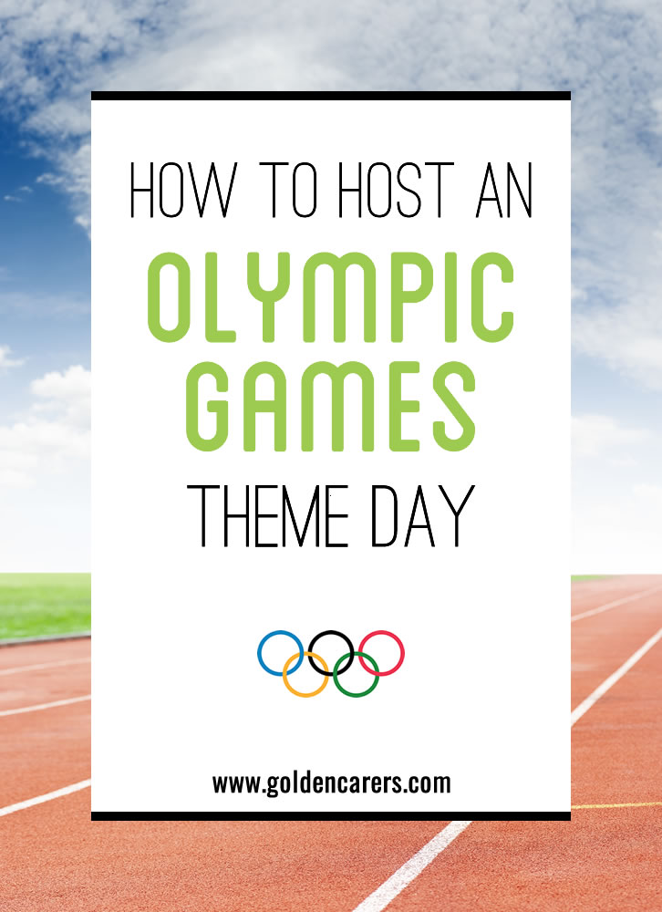 Plan your own Mini Olympics for the Elderly in Nursing Homes and Long Term Care Facilities.