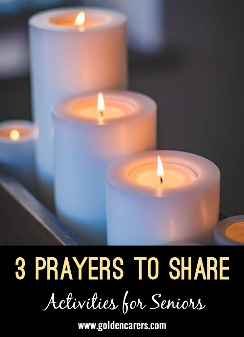3 prayers suitable for World Day of Prayer