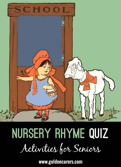 Here's another nursery rhyme quiz!