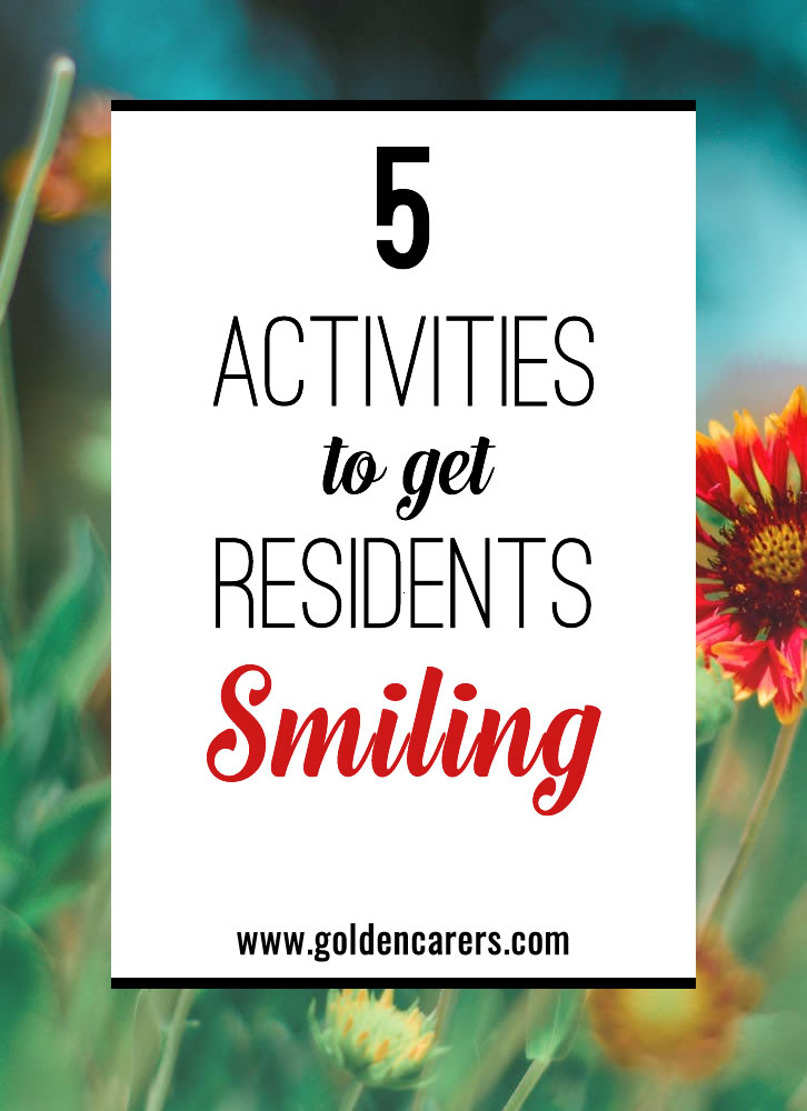 Laughing together as a community is what will bring the brightest smiles to your activity. Here are five activities that encourage active participation of the whole community.