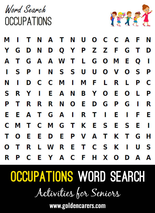 Find the occupations in this word search!