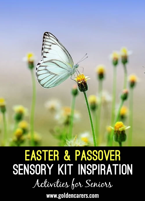 Bring the secular and spiritual parts of Easter and Passover to your residents by developing sensory kits based on the traditions.