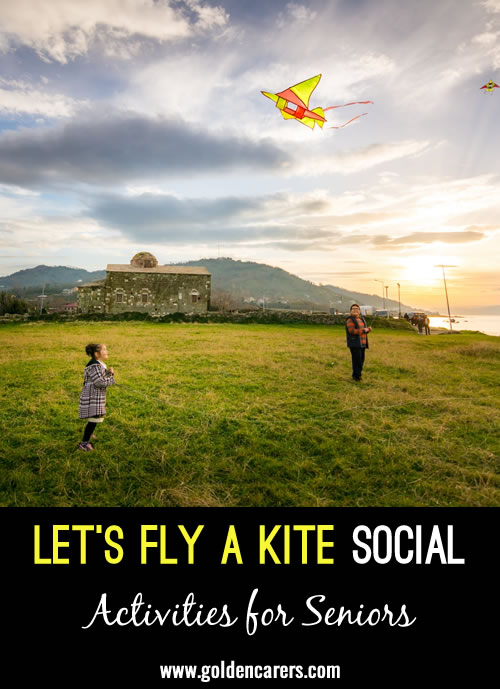 Host a Let's Fly a Kite Social for your residents, or turn this into an intergenerational activity by inviting family to participate on a weekend. Kite flying is fun for all ages, which makes this social a hit no matter who participates.