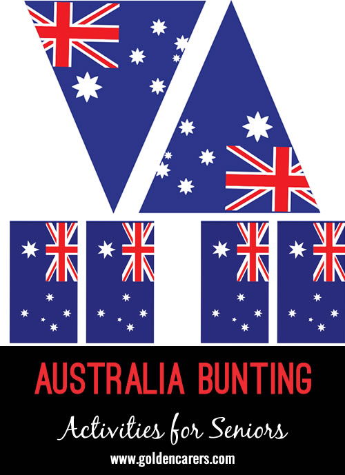 Bunting templates for an Australian celebration!