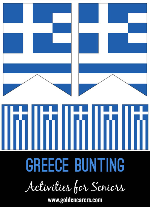 Bunting templates for decorations on a Greek theme day!