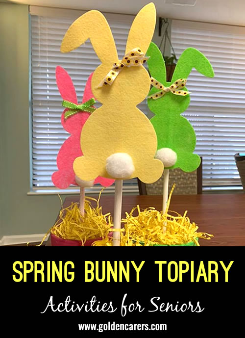 Make your own gorgeous Spring Bunny topiaries!