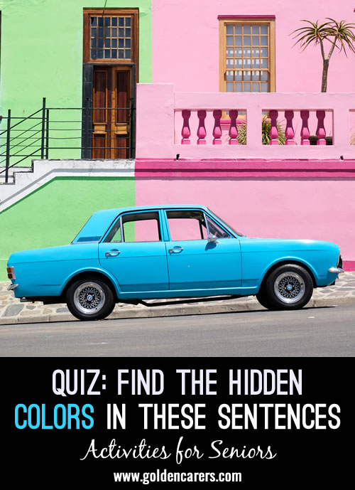 Find the hidden colours in this quiz!