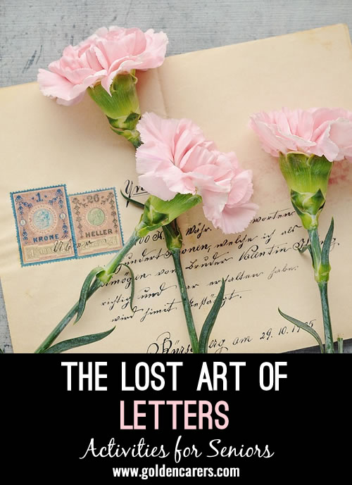 Writing and receiving letters in the mail seems ancient today. However, everyone loves a bit of snail mail! Consider reigniting the love of letters throughout your community by planning a few activities over the course of a week or month.