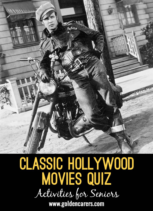 Enjoy this Hollywood  quiz featuring classic movies of yesteryear!