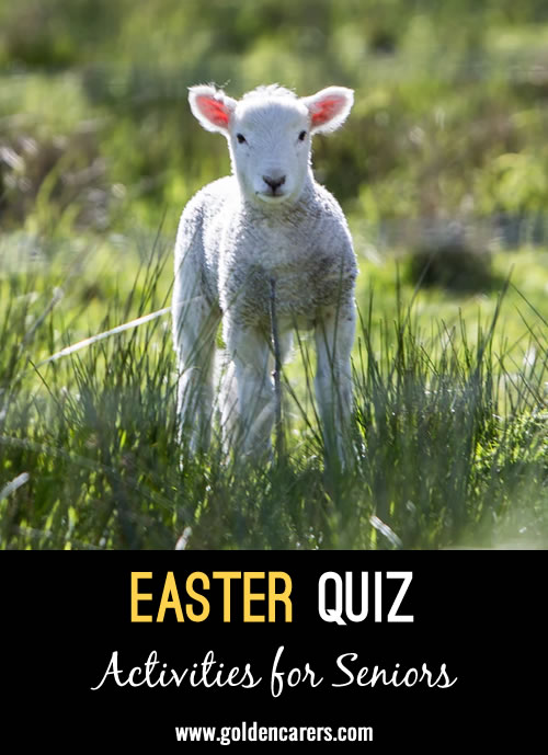 A printable quiz or powerpoint presentation for Easter!