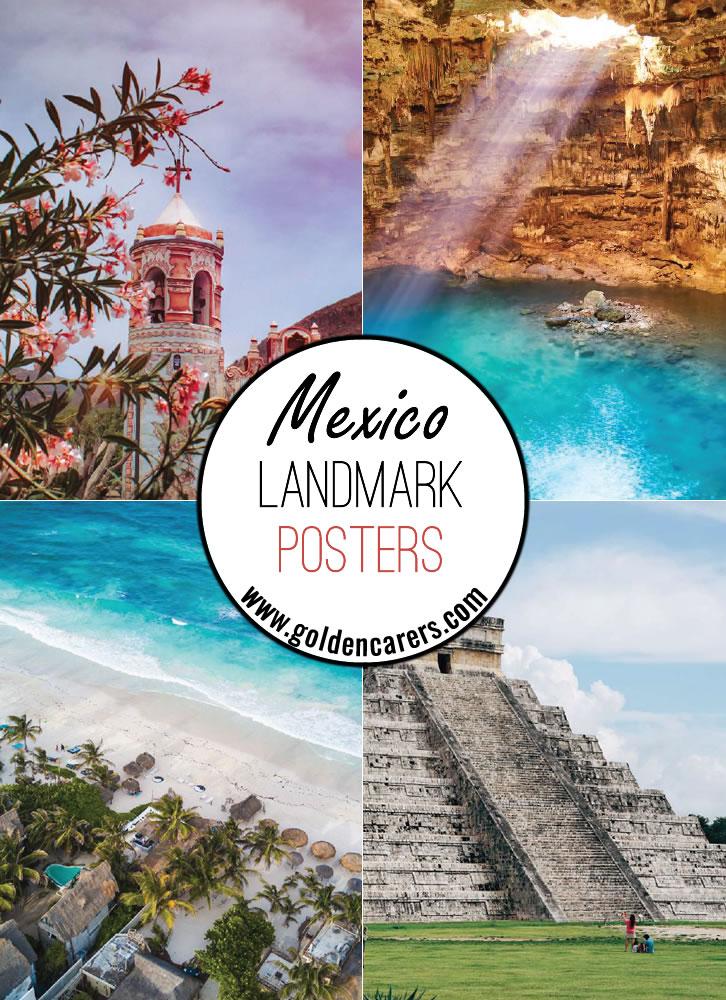 Mexico Landmark Posters