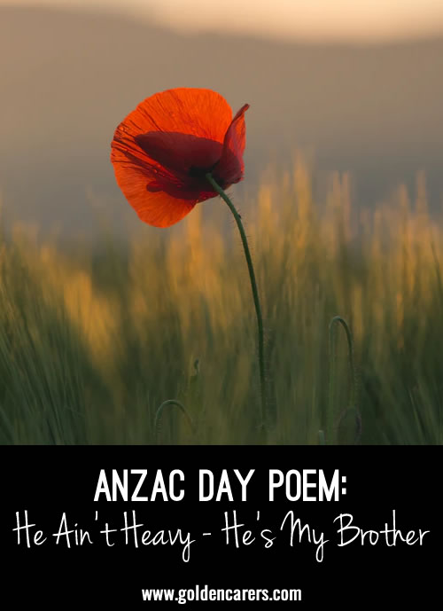 I'd like to share a poem I wrote for Anzac Day  -- Kerry Towler