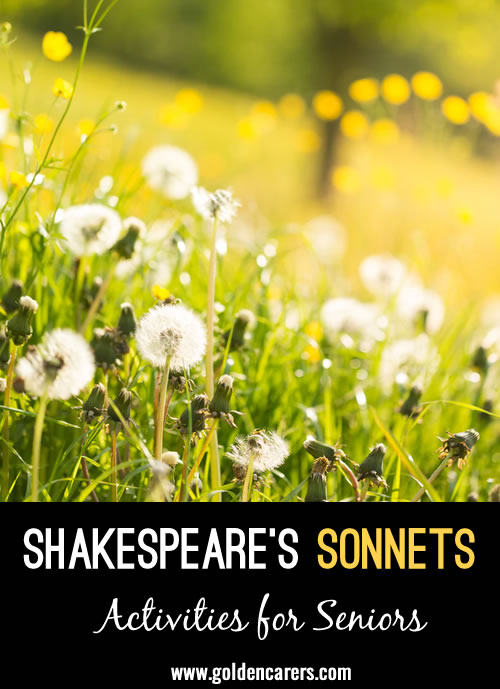Here are 3 beautiful sonnets written by Shakespeare, including the well known: