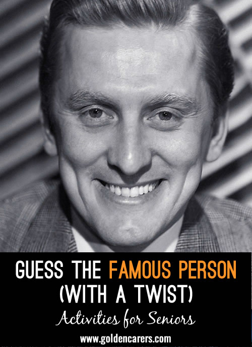 I have put together a Guess the Famous Person but with an added twist! Hope you enjoy this activity and that you are all keeping safe.