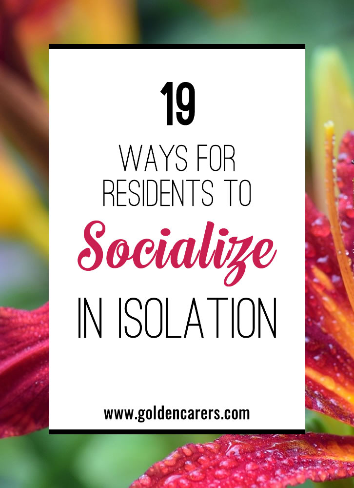 Social events don't exactly meet social distancing guidelines, but that doesn't mean you can't still create a feeling of community with your residents. Here are ideas on how to share events without sharing contact.