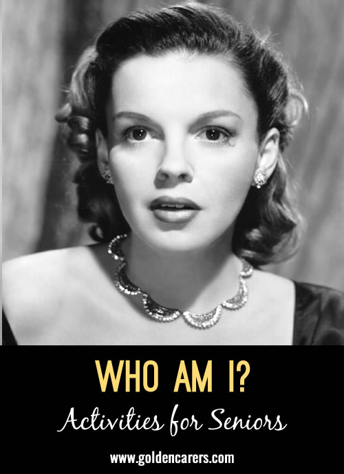 Guess who these famous people of yesteryear are - all born in June! A fun reminiscing activity.