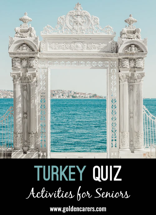 Have some fun testing your knowledge and learning about Turkey with this quiz!