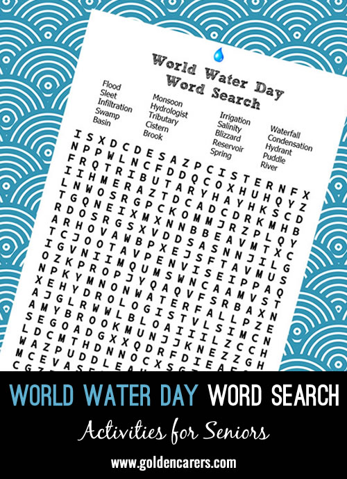 World Water Day Word Search