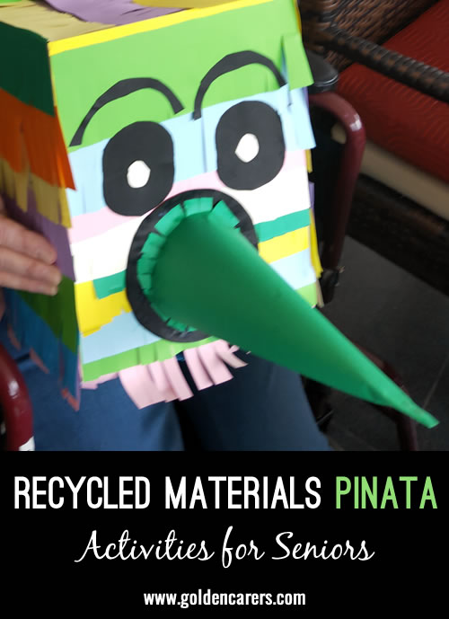 Recycled Materials Mexican Pinata