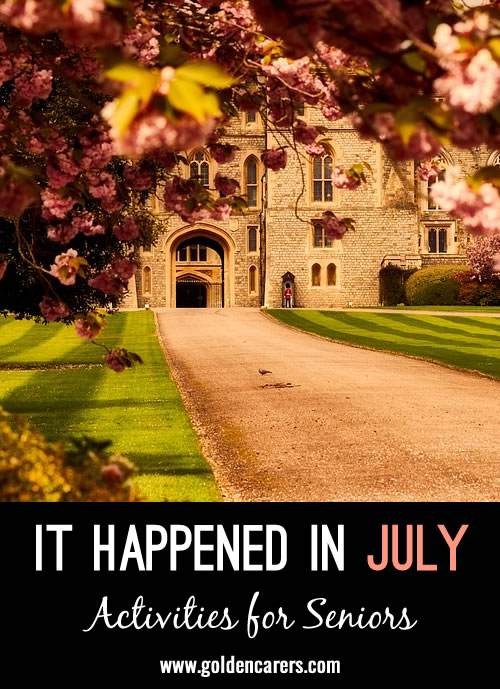 This quiz is all about things relating to July. It includes historical events and trivia. It's tricky and informative and will promote much discussion!