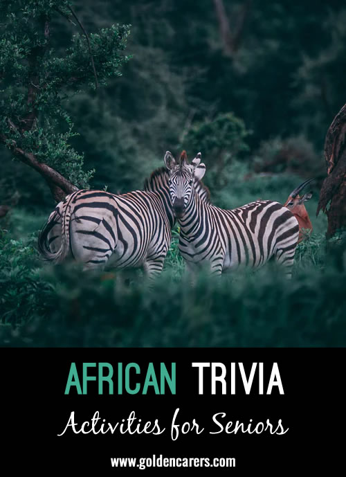 All About Africa Trivia