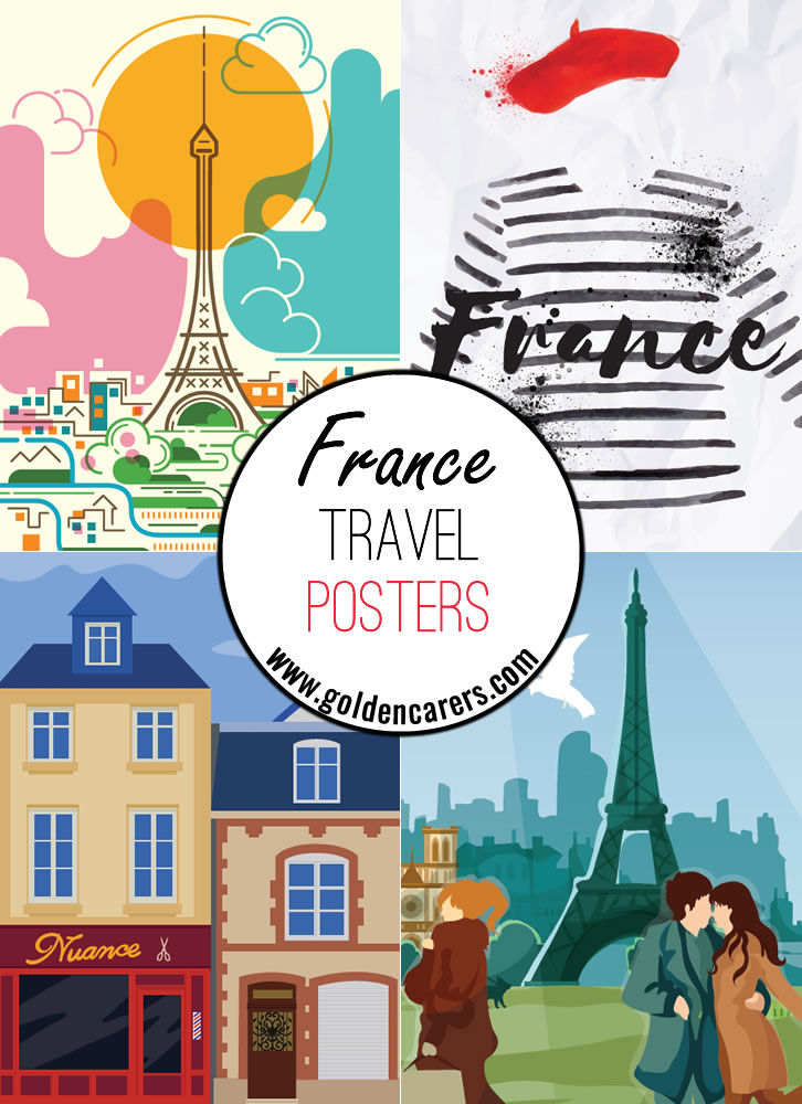 Posters of famous French tourist destinations!