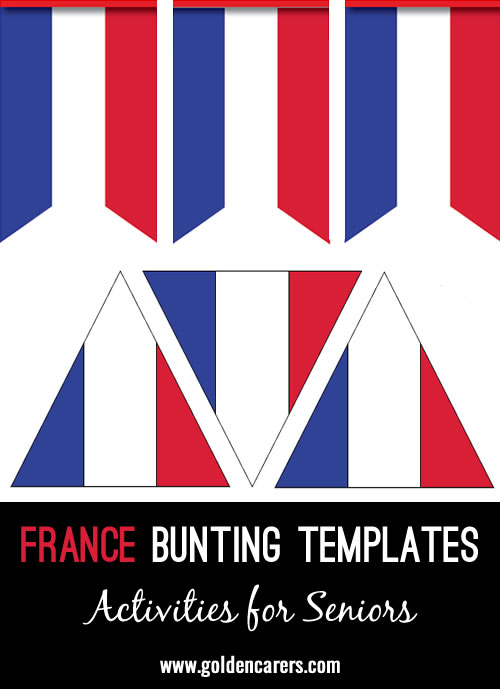 Bunting templates for decoration in the colors of the French flag!