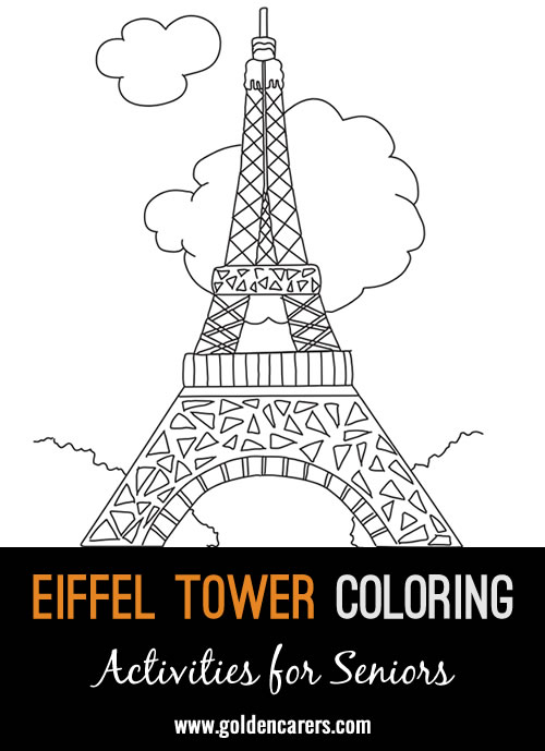 The Eiffel Tower is a global cultural icon and one of the most recognizable structures  in the world. Have some fun with this coloring template!