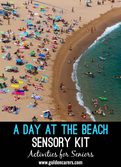 Everyone loves a day at the beach, and this theme is perfect for sensory stimulation kits.