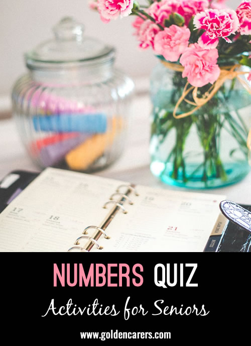 All the answers to this quiz are numbers!