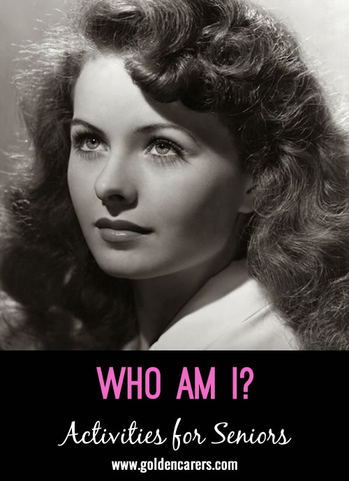 Guess who these famous people of yesteryear are - all born in August!! A fun reminiscing activity.