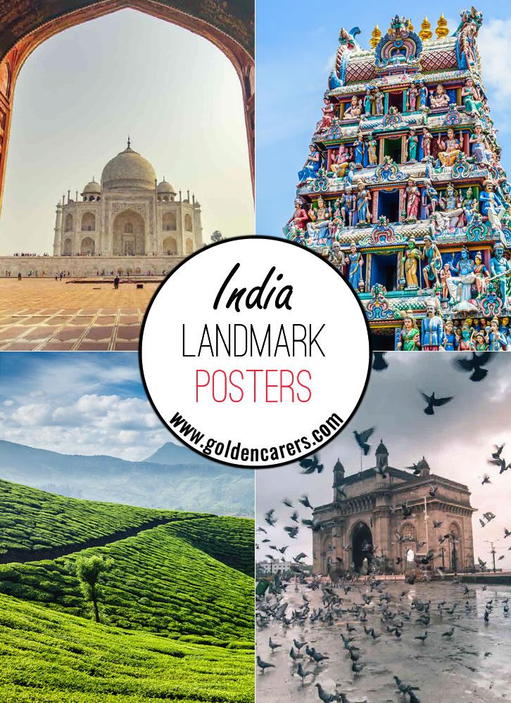 India Landmark Posters