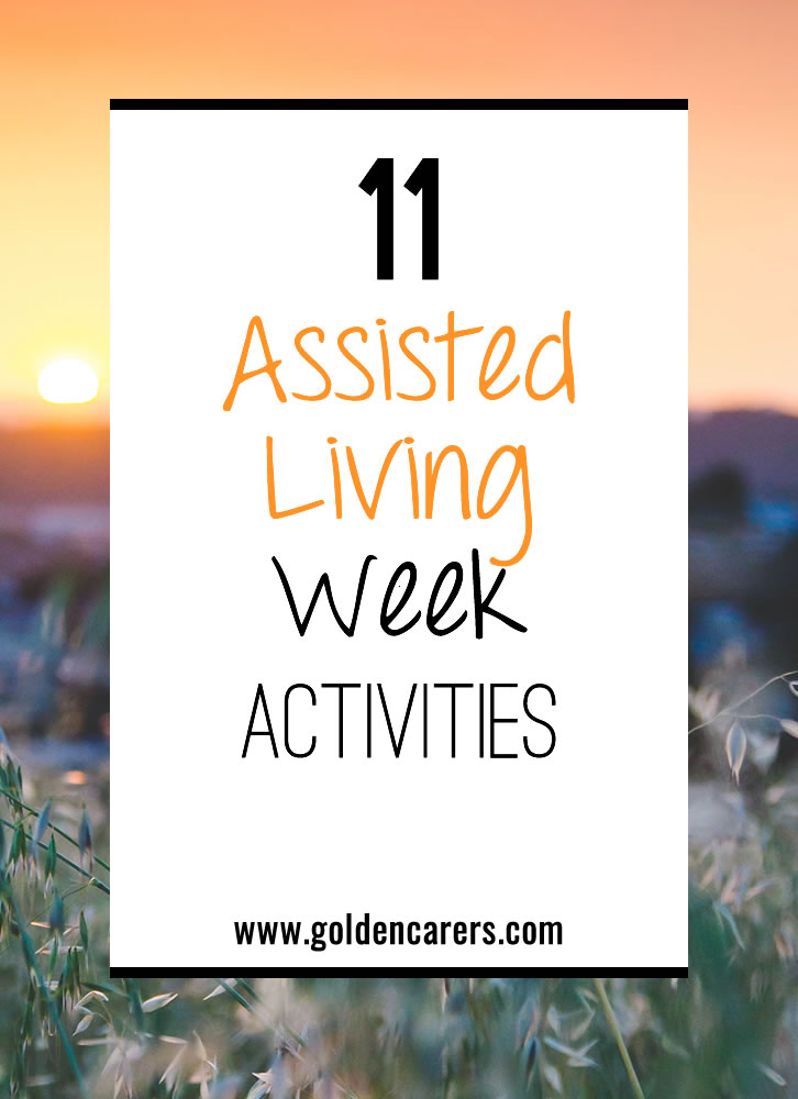 11 Assisted Living Week Activities