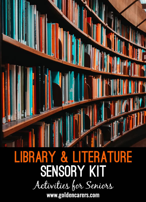 The quiet of a local library and the feeling of settling in to enjoy a good book can be comforting to many of your residents. Tap into the magic of literature by trying out a sensory kit inspired by the library.