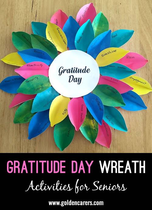 Gratitude Day Wreath