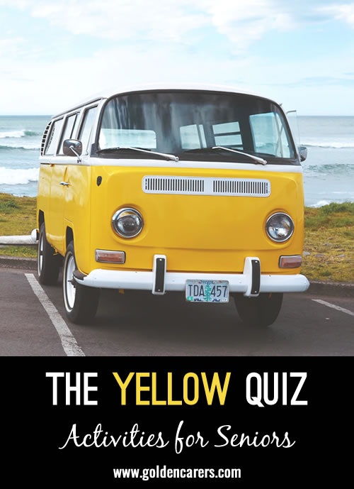 This quiz is all about the color yellow!