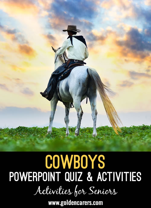 Cowboys PowerPoint Quiz and Activity