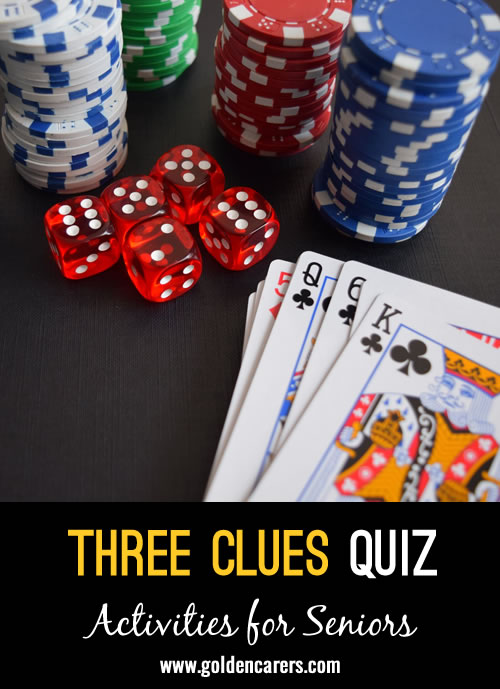 Three Clues - What Do They Have In Common?