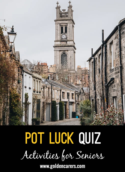 Try your luck with this Pot Luck Quiz!