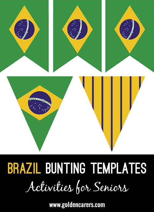 Brazilian bunting templates for a Brazilian party!