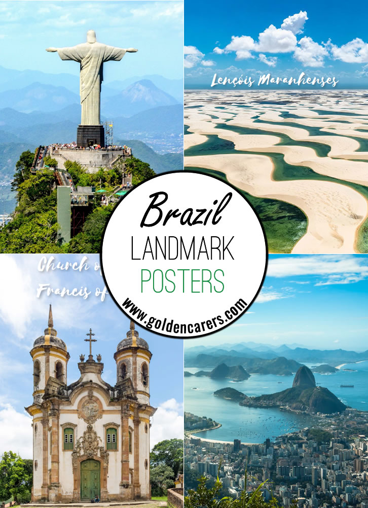 Posters of some famous destinations in Brazil!
