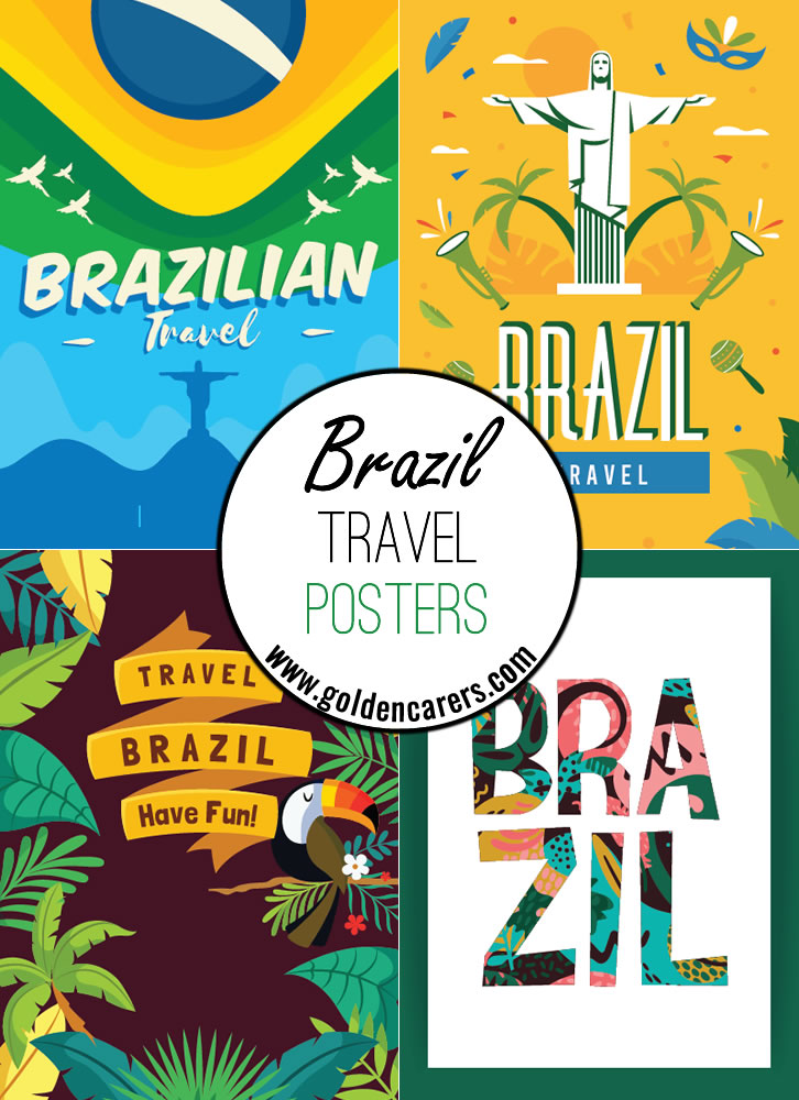 Posters of famous tourist destinations in Brazil!