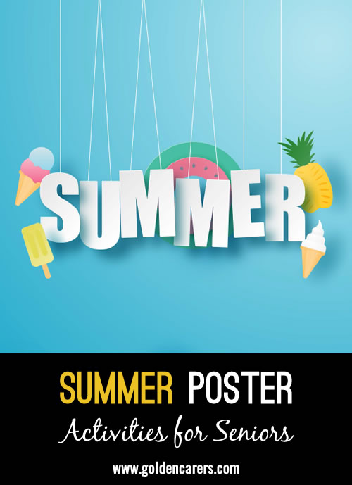 A summer poster for decoration!