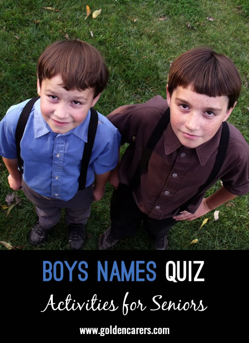 All the answers to this quiz are boys names!