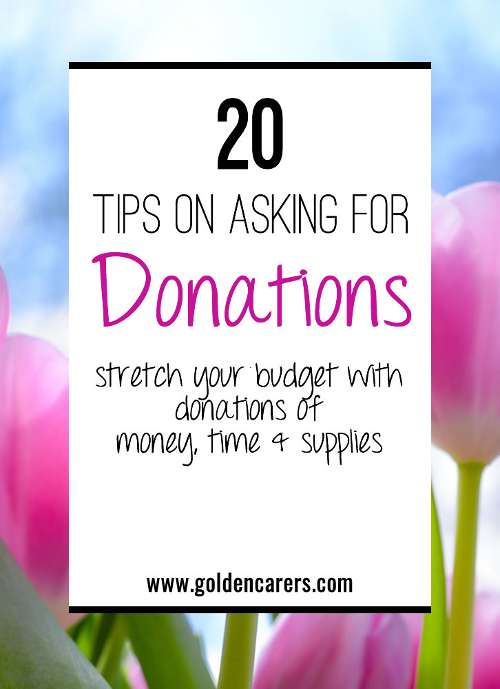 20 Tips on Asking For Donations